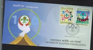 O) 2016 BANGLADESH, SCOUTS- SYMBOLS OF THE SCOUTING-FDC DHAKA GPO, FDC XF