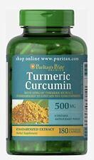 Puritans Pride Turmeric Curcumin 500mg X180 Capsules Natures Miracle Herb!