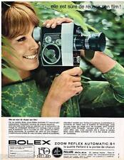 PUBLICITE ADVERTISING 095  1964  PAILLARD BOLEX   caméra zoom reflex automatique