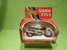 POLISTIL MS605 MOTORCYCLE BMW R75/5 - GREEN 1:15 - GOOD CONDITION IN BOX