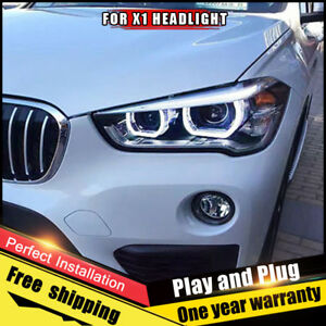 For BMW X1 Headlights assembly Bi-Xenon Lens Double Beam HID KIT 2016-2018