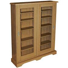 HAMPSTEAD - CD DVD Media Storage Cabinet - Oak MS4408