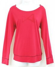 HUE Sleepshirt LS Band Hem  Size M  Bowtie in Red Stones  Cupid Red NWT $40