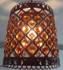 Plafonnier avec bronze métal perles cristal pendentif plafonnier
