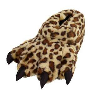 Leopard Paw Slippers - Furry Animal Feet Claw Slippers for Men and Women