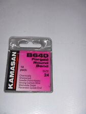 KAMASAN B640 FISHING HOOK SIZE 24 FORGED SPADE round bend
