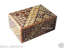12 Step Japanese Puzzle Box Secret Yosegi Hakone 4 Sun Trick Opening Crafted M