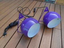 2 Applique lampe suspension eye ball design Atelier sconce pour deco loft 70's