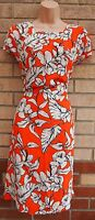 PAPAYA WHITE FLORAL ORANGE A LINE SMOCK BAGGY SUMMER TUNIC A LINE DRESS 12 M