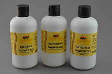 Natural Shower Gel Set with Emu Oil RELAXING REFRESHING ANTI-STRESS 3 x 250ml