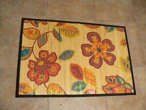"Evergreen Cape Craftsman Floral Flowers Bamboo Floor Mat 35.5/"" L x 23.5/"" W"