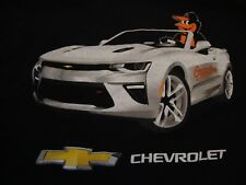 MLB Baltimore Orioles Baseball Chevrolet Sports Car Sports Fan T Shirt Size XL