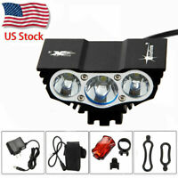 15000LM 2xT6/3xT6 LED Front Bicycle Headlight Bike Light Torch Lamp Rechargeable