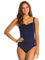 TYR - Solids Twist Bra Controlfit (Navy) One Piece Swimsuit 7307 Size 10
