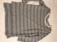 Zara Grey Stripey Womens Jumper Size M
