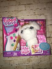 New htf Fur Real Friends Pets with Style White Puppy dog Color Changing Skirt