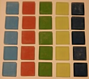 Mosaiksteine Glassteine Glasmosaik Blau Rot Grün 20x 50x 100x (je nach Auswahl)