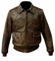 Indiana Jones Vintage Brown Leather Jacket For Men