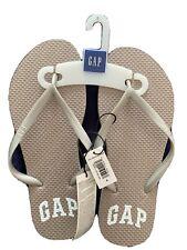 Blue Gap Women's Flip Flops Size 6 (White GAP Logo)