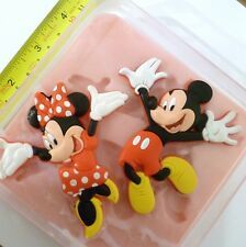 JUMPING MICKEY & MINNIE MOUSE SILICONE MOULD FOR CAKE TOPPERS, CHOCOLATE