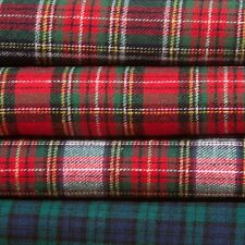100% brushed cotton Tartan Checks Excellent quality fabric by the metre  NEW