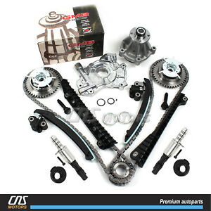 Timing Chain Kit VVTi Gears Solenoid Valve Water Oil Pump for Ford Lincoln 5.4L