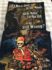 Hunting T-shirts Lot Of 2 Funny Graphics Blue Black Size L