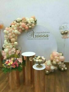 Round Display Plinths/Podiums Gold or Silver Wedding Special Occasions Events