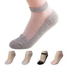 Ultrathin Transparent Crystal Silk Lace Elastic Short Socks Women Sexy Socks 2X