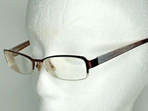 Ted Baker womens 51 17 135 RX eyeglasses frames pink red half rim wire metal
