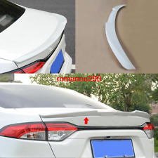 1X For Toyota Corolla 2020 ABS Pearl White Rear Tail Trunk Spoiler Wing Lip Trim