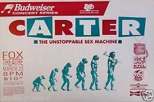 CARTER -THE UNSTOPPABLE SEX MACHINE 1995 DENVER CONCERT TOUR POSTER - Ape To Man