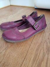 Clarks Originals Size 5 Purple Leather Ladies Shoes