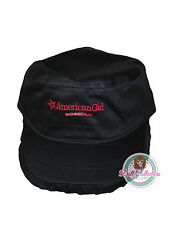 American Girl CL MY AG DC RUFFLE CAP HAT for Girls Black Washington City NEW