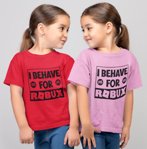 Behave for ROBUX ROBLOX GAMING KIDS GAMER T SHIRT. Xmas Gift Idea FREE P&P
