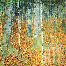 """32W""""x32H"""" BIRKENWALD (BIRCH FOREST) by GUSTAV KLIMT -MASTERS MUSEUM Repro CANVAS"""