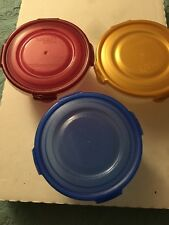 Plastic Bowl Food Storage Lock and Lock  3 Piece Set 24 Ounce Mix Color NEW