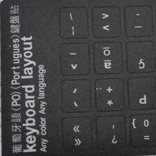 Computer Portuguese Keyboard Film Stickers Letters Alphabet Desktop  Scrub Model