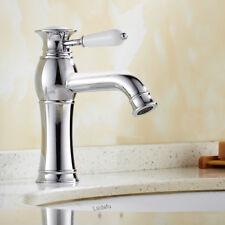 Bathroom Taps Basin Mixer Sink Ceramic Handle Chrome Bath Mono Single Lever Tap