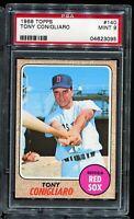 1968 Topps Baseball #140 TONY CONIGLIARO Boston Red Sox PSA 9 MINT