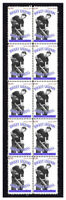 GEORGE VEZINA MONTREAL CANADIENS ICE HOCKEY LEGENDS MINT STRIP OF 10 STAMPS