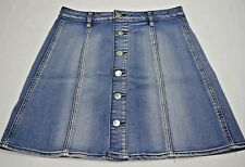 Faded Glory Women's  Blue Denim Button Front Skirts size 4,10,12
