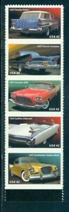 US 4353-4357 50's Fins and Chrome, strip/5, Mint NH, self adhesive