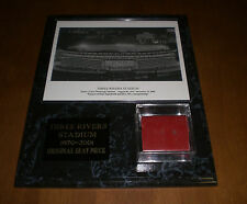 STEELERS THREE RIVERS STADIUM RED SEAT PLAQUE - NICE
