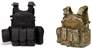 New Tactical Vest SWAT Military Assault Style Hunting Combat Airsoft 600D Oxford
