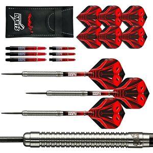 Tungsten Darts Set 22g 24g 26g 28g Super Cobra Dual Ringed Silver