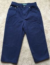 "RALPH LAUREN Women's Size 4 Blue Crop Pants (Waist 27"")"