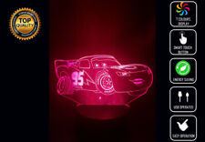 CARS LIGHTNING MCQUEEN 3D Acrylic LED 7 Colour Night Light Touch Table Lamp