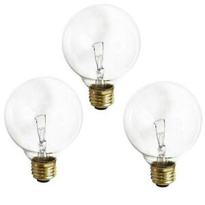 A4149 SATCO 3 PACK 60 watt G25 Incandescent; Clear; 3000 average rated hours; 65
