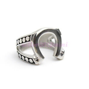 Jiustified Horseshoe Stainless Steel Ring Marshal Raylan TV Props Replica Ring